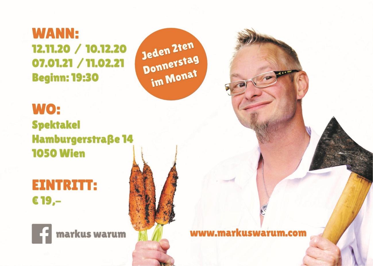 Kabarett Daten Markus Warum